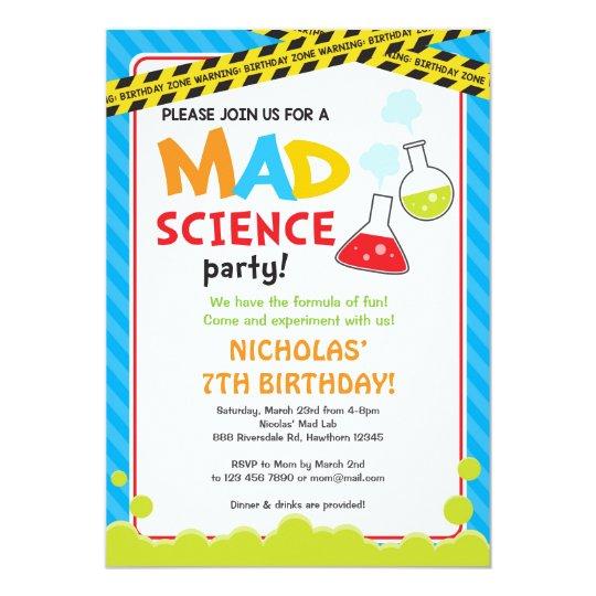 Mad science birthday invitation mad scientist zazzle mad science birthday invitation mad scientist filmwisefo