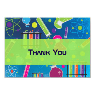 Mad Science Birthday Party Thank You Card