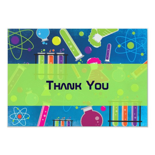 Mad Science Birthday Party Thank You Card : Zazzle