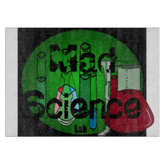 Mad Science Geek Kitchen Glass Cutting Board 1
