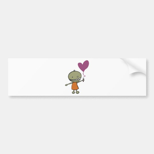 Mad Science Love Bumper Sticker