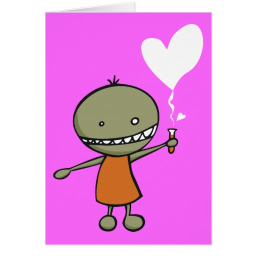 Mad Science Love Greeting Cards