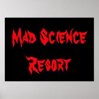 Mad Science Resort Poster Dorm Halloween Nerd Gift