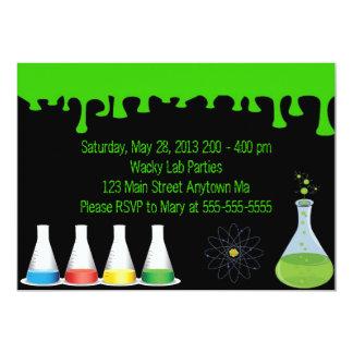 "Mad Science Scientist Birthday Party Invitation 5"" X 7"" Invitation Card"