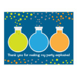 Mad Science Scientist Birthday Party Thank You Postcard