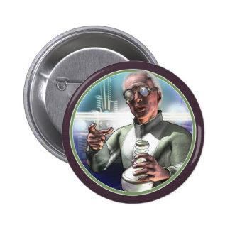 Mad Scientist #1 Round Button