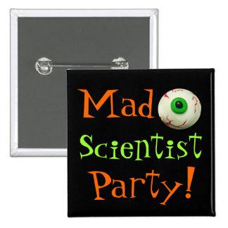 Mad Scientist 2 Inch Square Button