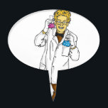 "Mad scientist 5 cake topper<br><div class=""desc"">one of my mad scientists. check out the others too.</div>"
