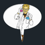 """Mad scientist 5 cake topper<br><div class=""""desc"""">one of my mad scientists. check out the others too.</div>"""