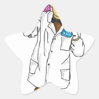 Mad scientist 5 star sticker