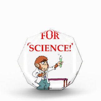 mad scientist acrylic award