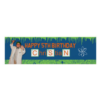 Mad Scientist Banner for Christian Print