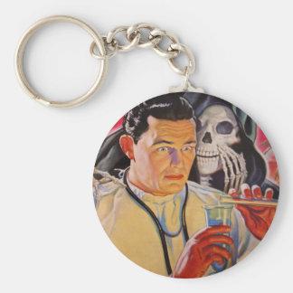 Mad Scientist Basic Round Button Keychain