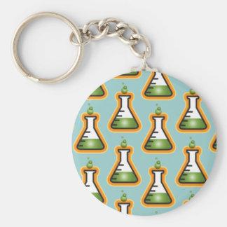 Mad Scientist Beakers Keychain