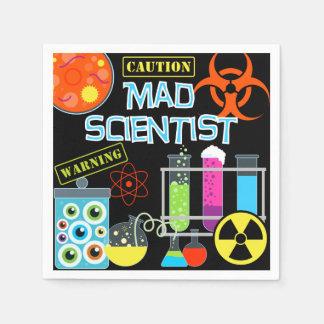Mad Scientist Birthday Paper Napkins