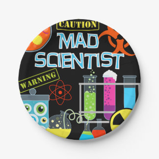 Mad Scientist Birthday Paper Plates