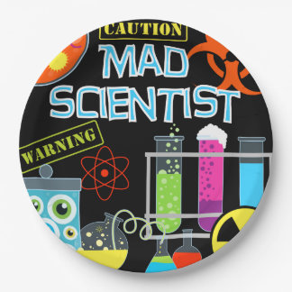Mad Scientist Birthday Paper Plates