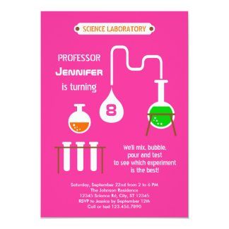 "Mad Scientist Birthday Party Invitation 5"" X 7"" Invitation Card"