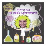 Mad Scientist Birthday Party Invitations