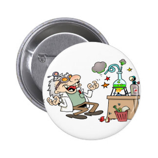Mad Scientist Button