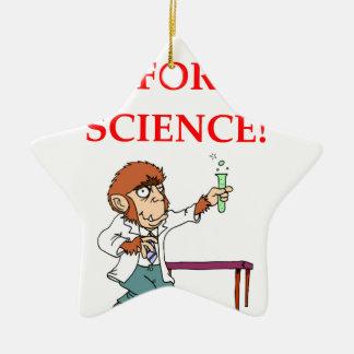 mad scientist ceramic ornament