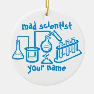 Mad Scientist Ceramic Ornament