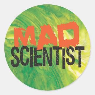 Mad Scientist Classic Round Sticker