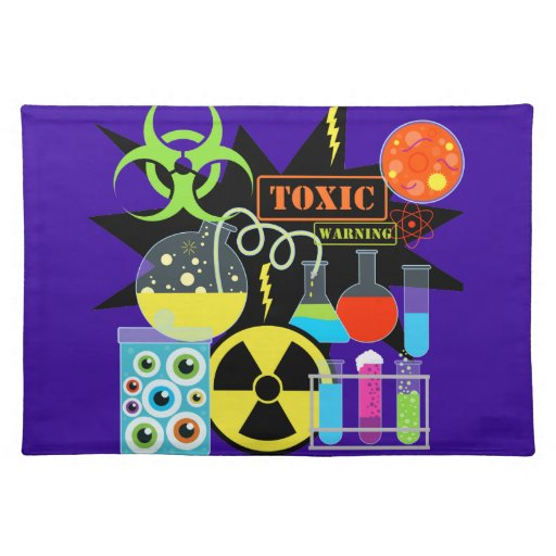 Mad  Scientist Cloth Placemat