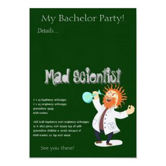 Mad Scientist Drink Recipe 5x7 Paper Invitation Card