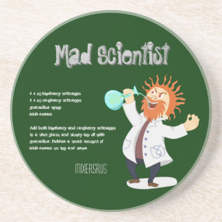 Mad Scientist Drink Recipe Sandstone Coaster