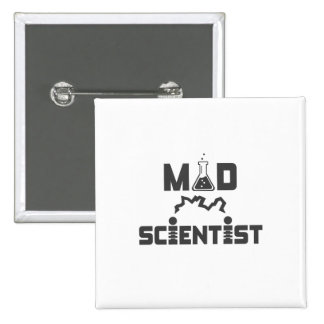 Mad Scientist Electric Science Beaker Pinback Button
