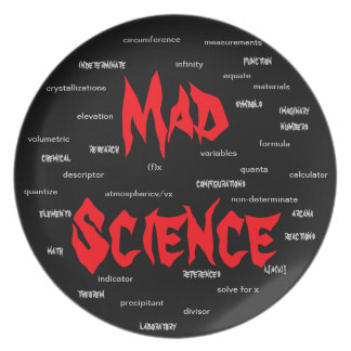 Mad Scientist Engineering Geeky Geek Nerd Gift 2xx Dinner Plates