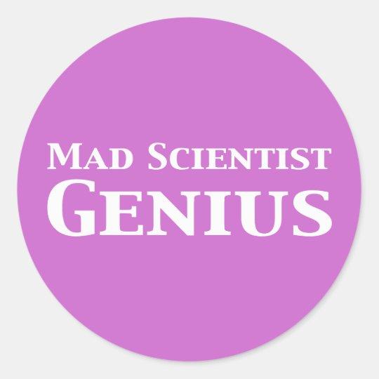 Mad Scientist Genius Gifts Classic Round Sticker