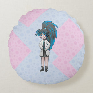 mad scientist girl pillow