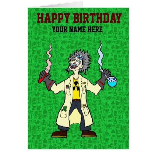 Mad-Scientist Greeting Card