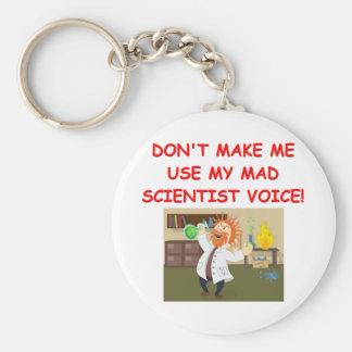 mad scientist joke keychains