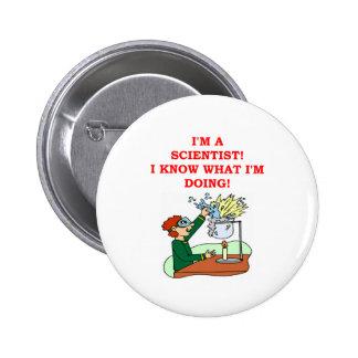 mad scientist joke pinback button