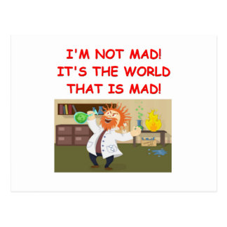 mad scientist joke post cards