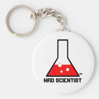 Mad Scientist Key Keeper Basic Round Button Keychain