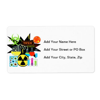 Mad Scientist Custom Shipping Label