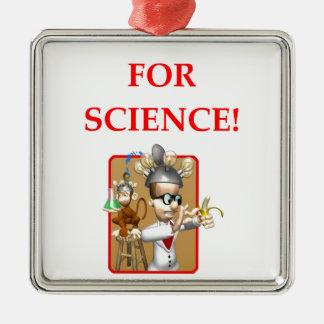mad scientist metal ornament