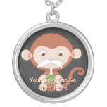 Mad Scientist Monkey Necklace