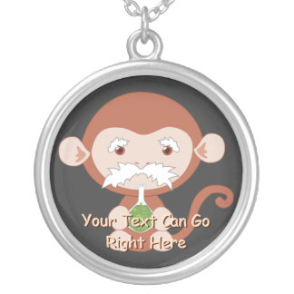 Mad Scientist Monkey Necklace