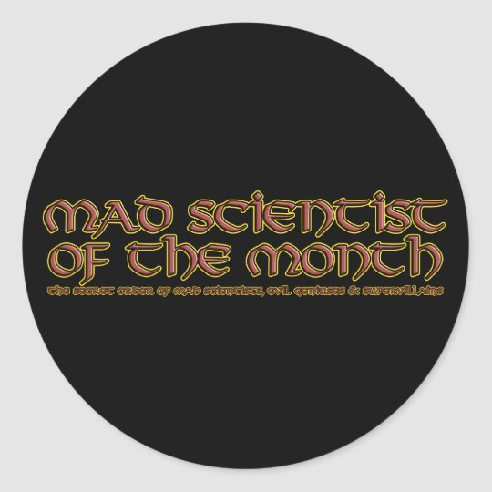 Mad Scientist of the Month Stickers