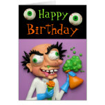 Mad Scientist Party Cards
