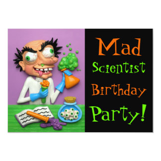 """Mad Scientist Party 5"""" X 7"""" Invitation Card"""