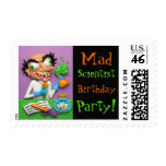 Mad Scientist Party Stamps