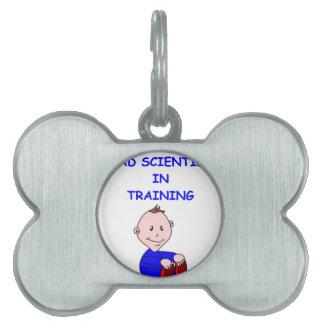 mad scientist pet tags
