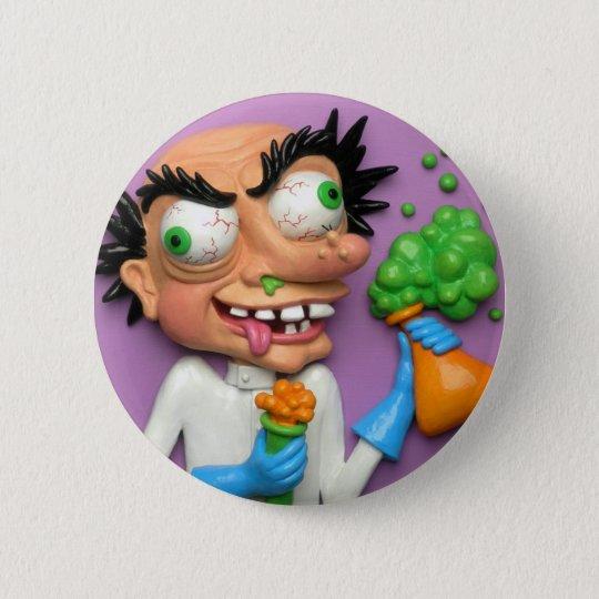Mad Scientist Pinback Button