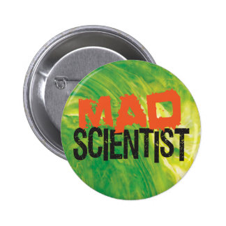 Mad Scientist Pinback Button